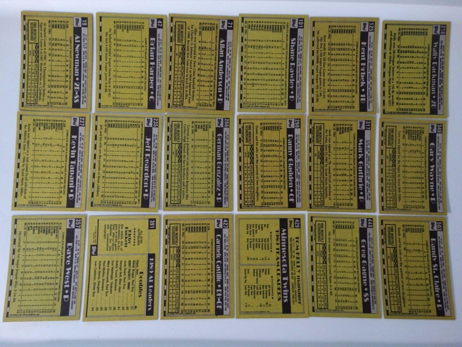 1990 Topps Minnesota Twins Team Set of 30 Baseball Cards image 4