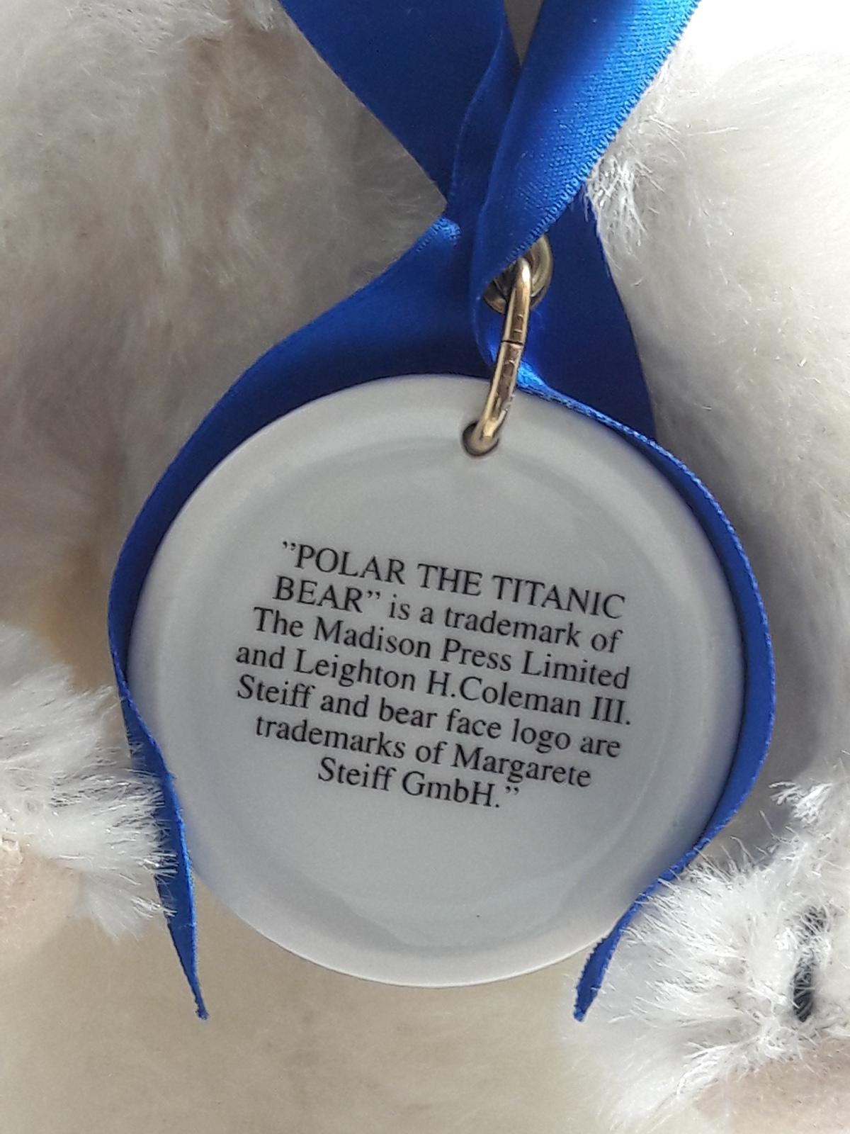 Steiff Polar the Titanic Bear EAN 670299 - #00962 of 5,000