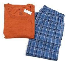 Men's Hanes Sleepwear Short Sleeve Crew Tee Shirt & Woven Pants Lounge Pajamas