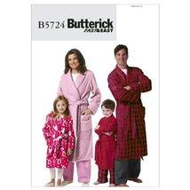 Butterick Patterns B5724 Misses'/Men's/Children's/Boys'/Girls' Robe and Belt, Si - $12.25
