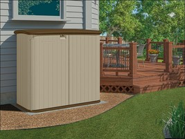 Double Door Opening Suncast Horizontal Storage Shed New Comfortable For ... - $368.00