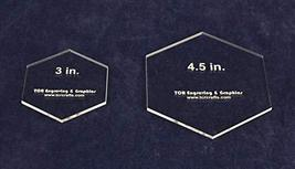 "2 Pc Actual Size Hexagon Set -3"" and 4.5""- 1/8"" Thick - $11.99"