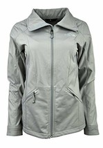 7835-1 THE NORTH FACE WOMENS HIGH RISE GREY PARKSLOPE FULL ZIP JACKET XL... - $83.28