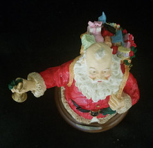JOLLY OLD SANTA MUSIC BOX BY ROMAN (JINGLE BELLS) - $16.20