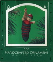 1986 - New in Box - Hallmark Christmas Keepsake Ornament - Son - $5.44