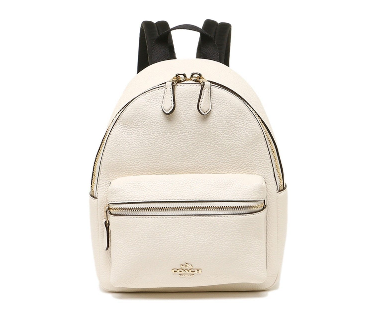 92a37a6706 57. 57. Previous. NEW COACH (F38263) CHALK WHITE MINI CHARLIE PEBBLED  LEATHER BACKPACK BAG