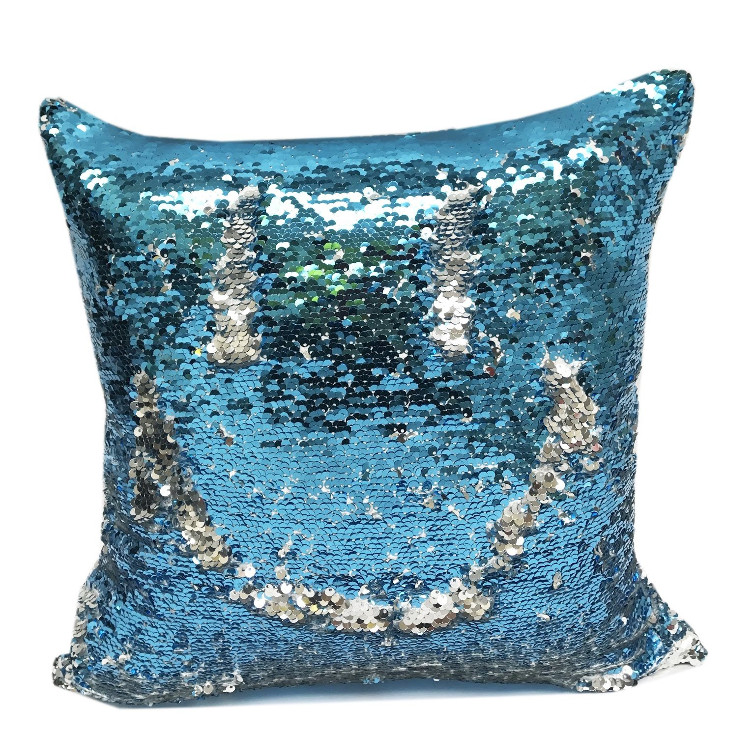 Throw Pillow Cover And Insert : Fennco Styles Glam Mermaid Sequin Throw Pillow - 16