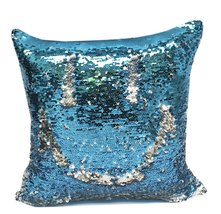 "Fennco Styles Glam Mermaid Sequin Throw Pillow - 16""x16"" (Cover + Insert... - $26.72"