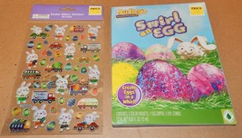 Easter Egg Decorating Kit Dudley's Swirl & Glitzy Stickers Bunnies 50 Ea... - $4.49
