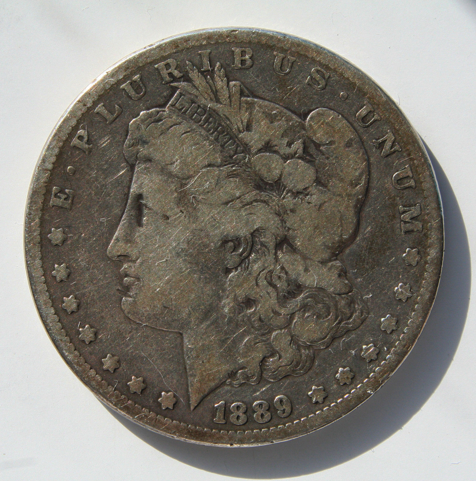 1889CC Carson City MORGAN SILVER ONE DOLLAR Coin Lot # MZ 3362