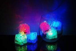 Set of 6 Litecubes Brand 8 Mode RAINBOW Light up LED Ice Cubes - $19.58 CAD