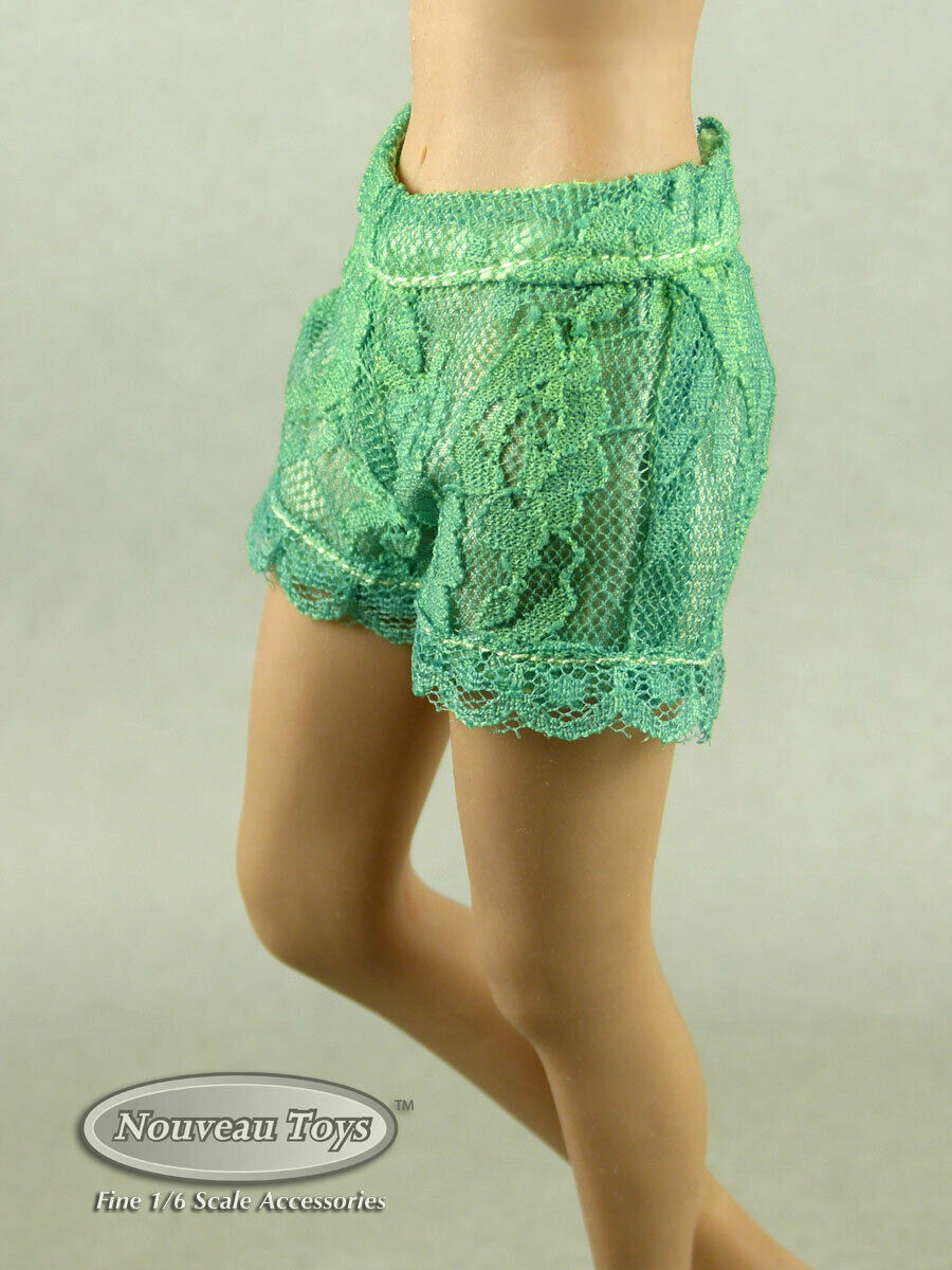 Primary image for 1/6 Phicen, TBLeague, Hot Toys & NT - Sexy Female Light Green Lace Short Pants