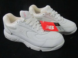 New Balance 572 White Sneakers 7.5 Women's Breast Cancer Ribbon Walking Shoes 38 - $37.61