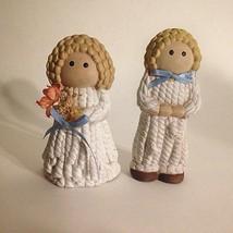 "Vintage Ceramic Boy And Girl Figurine 4""  Tall - $7.87"