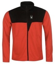 NWT MENS SPYDER RED/BLACK RYDER FULL ZIP MID WEIGHT JACKET LARGE $79 MSR... - $37.59