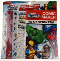 Marvel Heroes Comic Maker Stickers Lot 12 Create Book Super Hero Kit Par... - $23.99