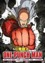 ONE PUNCH MAN Complete 1-12 End+ OVA +1-6 Special English Dub Ship From USA