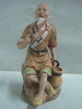 Antique statue figure in porcelaine a old man chinese - $52.25