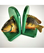 """Vintage Rustic Handmade Wooden Fish Bookends - Good for """"Fish Stories"""" -... - $29.40"""