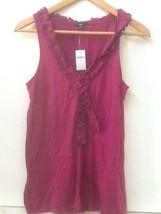Gap Womens purple ruffle neckline tank top S Small NWT New - $16.95