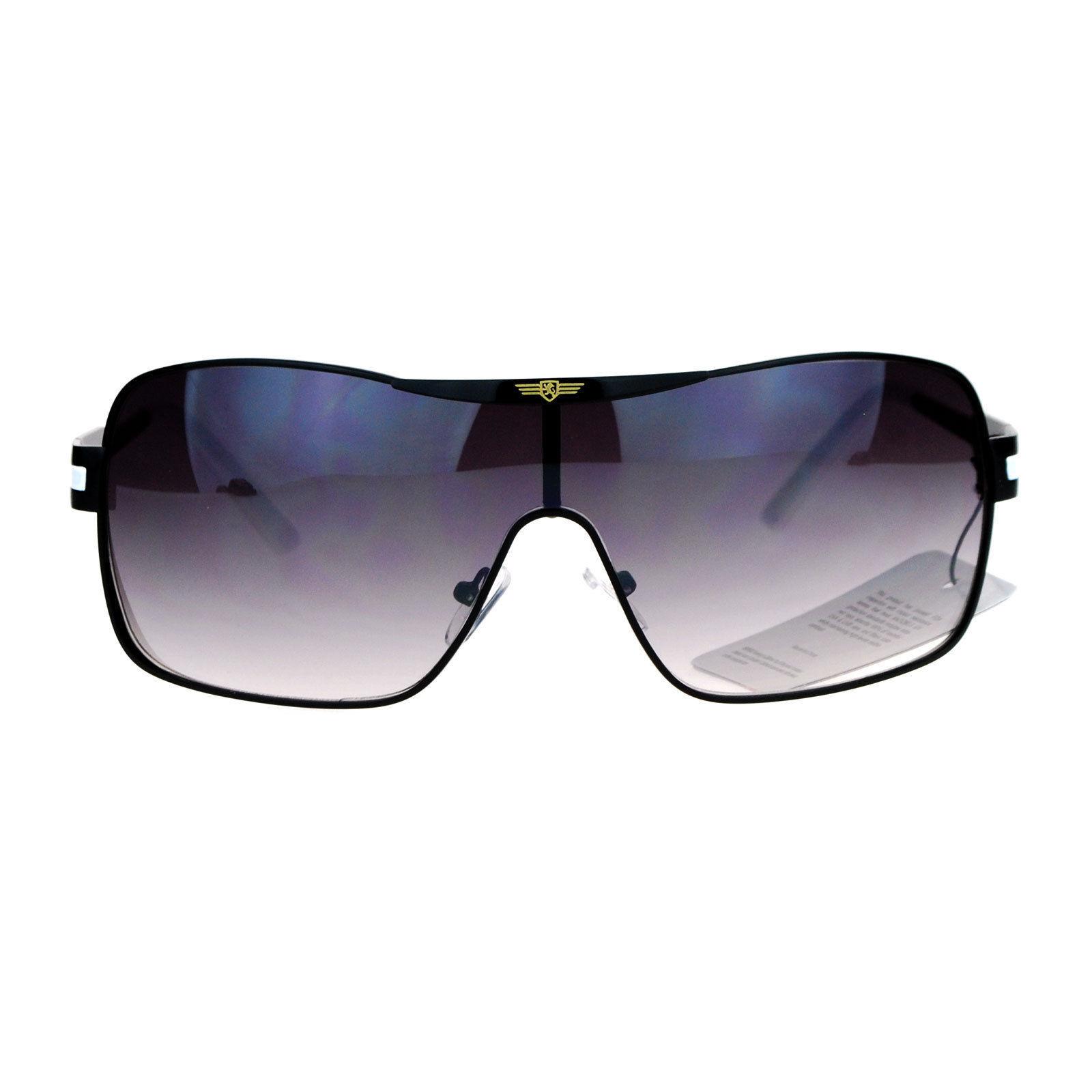 38d206611aa9 ... Khan Sunglasses Mens Shield Rectangular Designer Fashion Shades ...