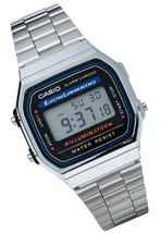 Casio A168W-1, Classic Digital Watch, Chronograph, Alarm, Day/Date - $19.09