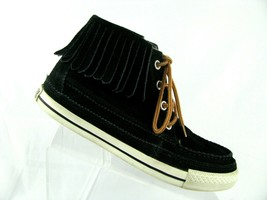 Converse All-Star Chuck Taylor Moccasin fringed suede boot sz 8.5 (EU 39.5) . - $26.10