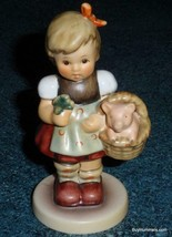 """Good Luck Charm"" Goebel Hummel #2034 Figurine TMK8 Girl With Piglet In ... - $121.24"