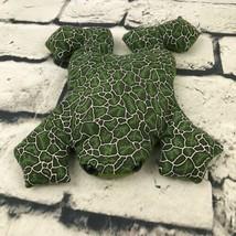 Leaf Print Tree Frog Plush Green Flat Beanbag Sandbag Stuffed Animal Soft Toy - $9.89