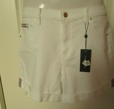 Tommy Hilfiger Shorts size 14 White jean style mid-rise Cotton Blend - $34.60