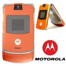 2018 ORIGINAL Motorola V3 Razr Orange 100% UNLOCKED Mobile Phone WARRANT... - ₨4,642.72 INR