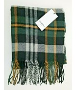 Goodfellow & Co Plaid Woven Winter Fashion Scarf Forest Mens Shawl - $16.99