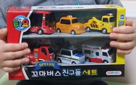 Tayo Special Pull Back Little Small Mini Miniature Toy Bus Car Vehicle 6 Pieces image 3