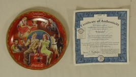 Bradford Exchange 6523A * Coca-Cola Collector Plate 5 3/4in Febuary 1999... - $43.05