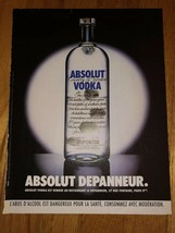 Absolut Depanneur Fingerprints Original Magazine Ad - $5.99