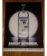 Absolut Depanneur Fingerprints Original Magazine Ad - $5.99