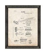 Rake Patent Print Old Look with Black Wood Frame - $24.95 - $109.95
