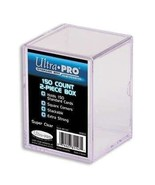Ultra Pro 81147 2-Piece 150 Count Clear Card Storage Box - $2.26