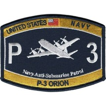 "4.5"" NAVY USS ORION P-3 ANTI SUBMARINE PATROL EMBROIDERED PATCH - $23.74"
