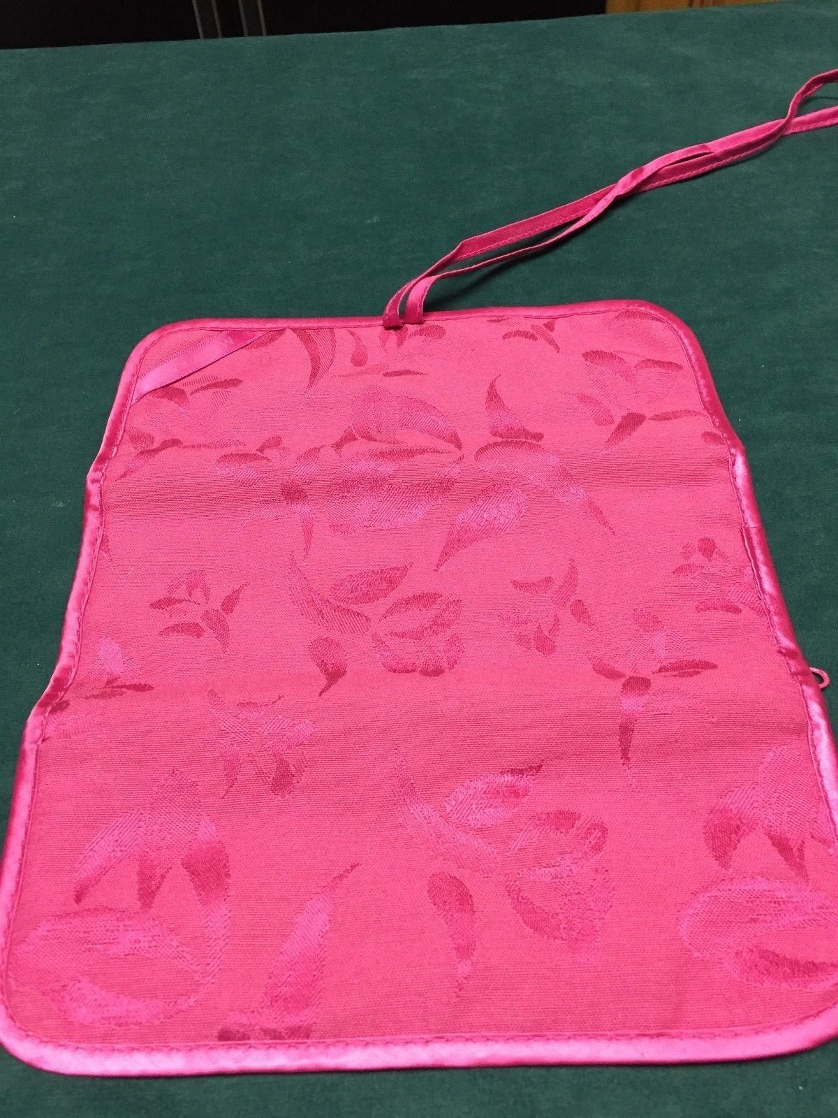 Vintage Mary Kay Makeup Roll Up Travel Bag or Jewelry Case Hot Pink