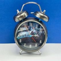 Cheshire cat alarm ringing bell clock Alice in Wonderland Disney creepy ... - $28.82