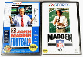 Sega Genesis 2 Game Lot Football Bundle Madden 93 Madden 94 - $5.24