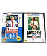 Sega Genesis 2 Game Lot Football Bundle Madden 93 Madden 94 - $5.24