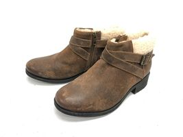 UGG Australia BENSON Buckle Sheepskin Ankle Booties 1095151 Chipmunk Waterproof image 10