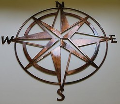 "Nautical COMPASS ROSE  26"" WALL ART DECOR coppe... - $55.99"