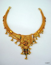 vintage antique 20kt gold necklace choker traditional handmade jewelry - $2,375.01