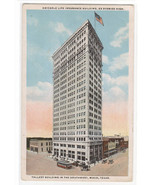 Amicable Life Insurance Building Waco Texas 1920c postcard - $6.44