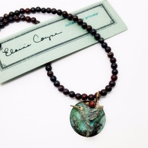 Elaine Coyne Collectible Artwear Hummingbird Jasper Beaded Necklace Hand... - $87.08