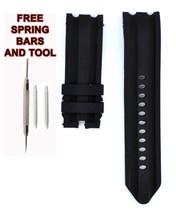 Similar Nautica A43005G 24mm Black Diver Rubber Watch Strap Band NTC114 - $22.77