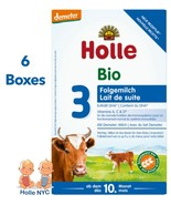 Holle Stage 3 Organic Baby Formula with DHA 6 boxes 600g Free Shipping - $159.95